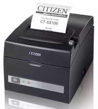 Принтер Citizen  CT-S310II; USB + Ethernet; 230V; internal PS; черный, код CTS310IIXEEBX